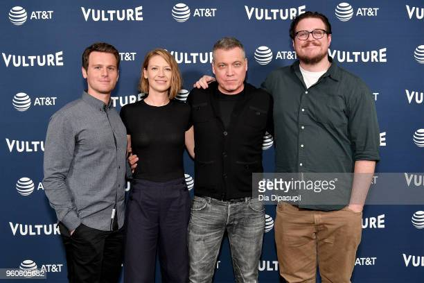 Jonathan Groff Anna Torv Holt McCallany and Cameron Britton of Mindhunter attend Day Two of the Vulture Festival Presented By ATT at Milk Studios on...