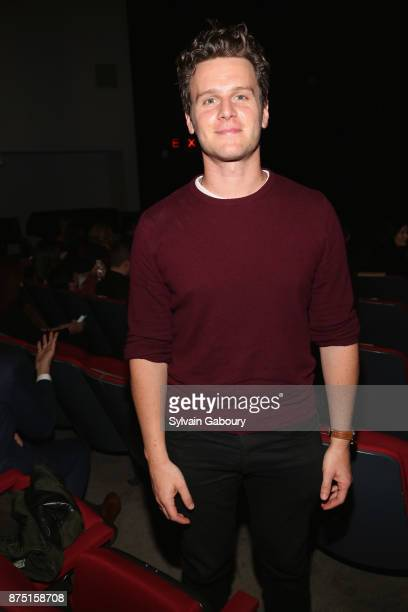 Jonathan Groff attends Calvin Klein and The Cinema Society host a screening of Sony Pictures Classics' 'Call Me By Your Name' on November 16 2017 in...