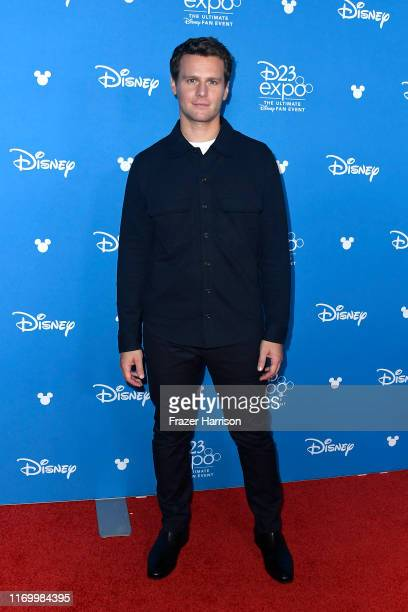 Jonathan Groff attends Go Behind The Scenes with Walt Disney Studios during D23 Expo 2019 at Anaheim Convention Center on August 24 2019 in Anaheim...