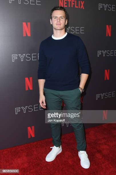 """Jonathan Groff attends Netflix's """"Mindhunter"""" FYC Event at Netflix FYSEE At Raleigh Studios on June 1, 2018 in Los Angeles, California."""