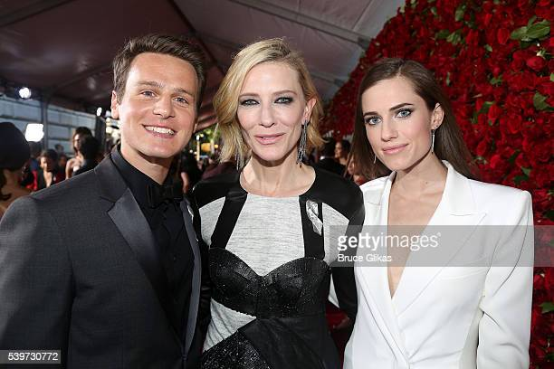 Jonathan Groff Cate Blanchett and Allison Williams attend 70th Annual Tony Awards Arrivals at Beacon Theatre on June 12 2016 in New York City
