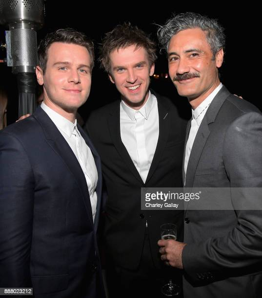 Jonathan Groff Dan Stevens and Taika Waititi attend GQ and Dior Homme private dinner in celebration of The 2017 GQ Men Of The Year Party at Chateau...