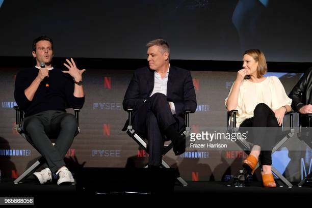 Jonathan Groff Holt McCullany Anna Torv attends Netflix's 'Mindhunter' FYC Event at Netflix FYSEE At Raleigh Studios on June 1 2018 in Los Angeles...