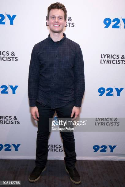 Jonathan Groff poses for photos after 'The Bobby Darin Story' performence at 92nd Street Y on January 20 2018 in New York City