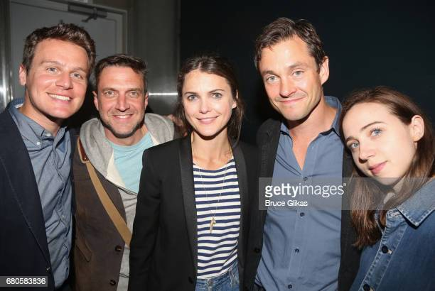 Jonathan Groff Raul Esparza Keri Russell Hugh Dancy and Zoe Kazan pose at An American Daughter Benefit Reading at The Tony Kiser Second Stage Theatre...