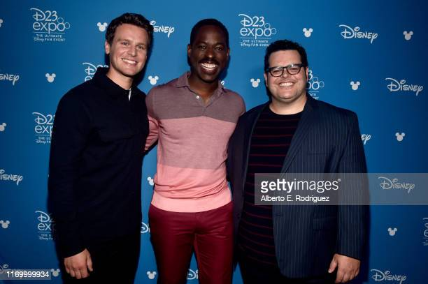 Jonathan Groff Sterling K Brown and Josh Gad of 'Frozen 2' took part today in the Walt Disney Studios presentation at Disney's D23 EXPO 2019 in...