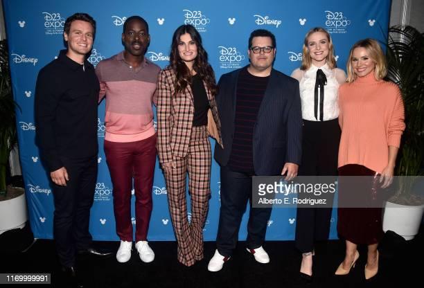 Jonathan Groff Sterling K Brown Idina Menzel Josh Gad Evan Rachel Wood and Kristen Bell of 'Frozen 2' took part today in the Walt Disney Studios...