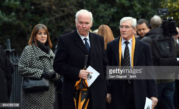 Jonathan Hayward and John Richards at the service of thanks giving during the Funeral of Baroness Heyhoe Flint on February 8 2017 in Wolverhampton...