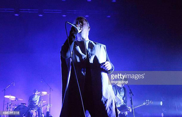 Jonathan Higgs of Everything Everything performs at O2 Academy Brixton on November 20 2015 in London England