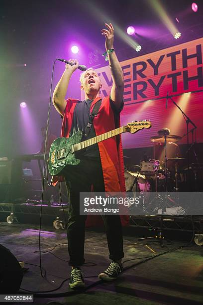 Jonathan Higgs of Everything Everything performs on the i stage during day 3 of Festival No 6 on September 5, 2015 in Portmeirion, Wales.