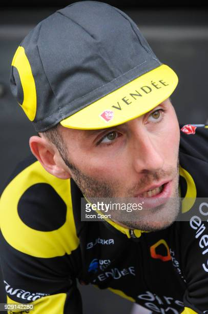 Jonathan Hivert of Direct Energie during the fourth stage of the 76th edition of ParisNice cycling race a 184 km individual time trial from La...