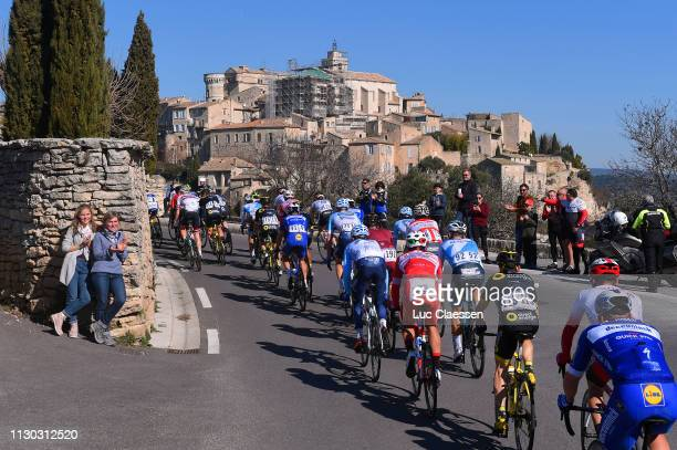 Jonathan Hivert of France and Team Direct Energie / Guillaume Boivin of Canada and Team Israel Cycling Academy / Philippe Gilbert of Belgium and Team...