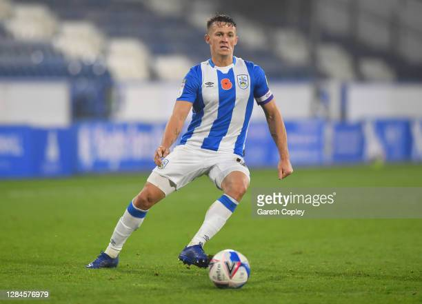 Jonathan Hogg of Huddersfield during the Sky Bet Championship match between Huddersfield Town and Luton Town at John Smith's Stadium on November 07,...