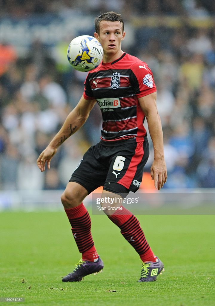 Jonathan Hogg of Huddersfield Town during Sky Bet Championship match between Leeds United and Huddersfield Town at Elland Road Stadium on September 20, 2014 in Leeds, United Kingdom.