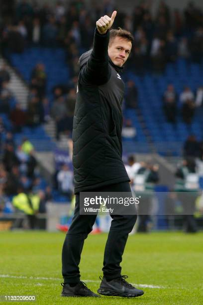 Jonathan Hogg of Huddersfield Town during the Premier League match between Brighton Hove Albion and Huddersfield Town at American Express Community...