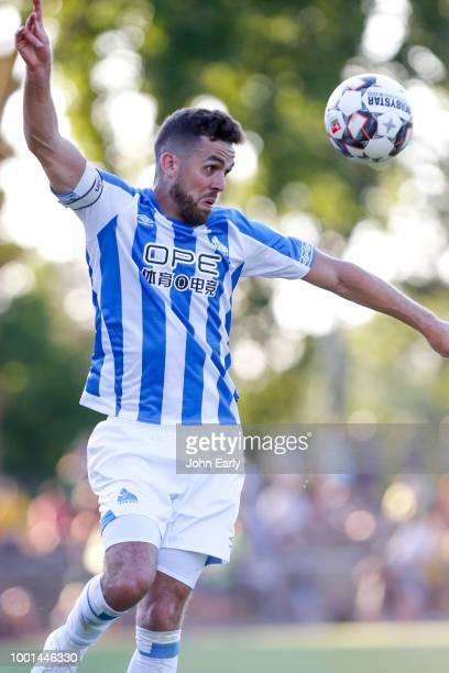 RUSSELSHEIM GERMANY JULY 18 Jonathan Hogg of Huddersfield Town during the preseason friendly between Dynamo Dresen and Hiddersfield Town at Stadion...