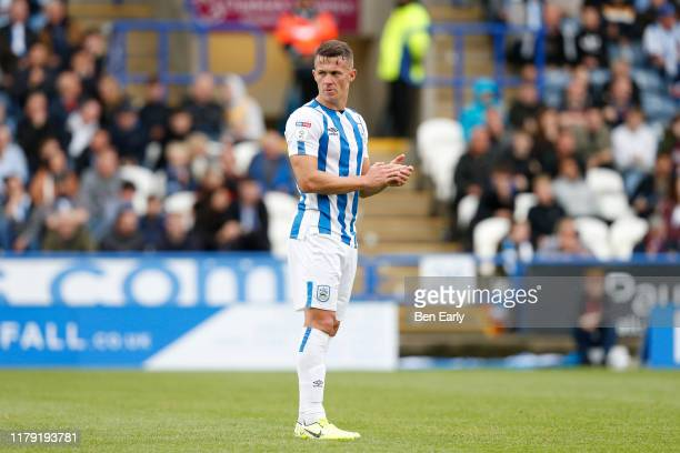Jonathan Hogg of Huddersfield Town during the Sky Bet Championship match between Huddersfield Town and Hull City at John Smith's Stadium on October...