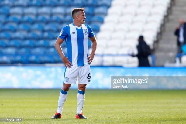 Jonathan Hogg of Huddersfield Town during the Sky Bet Championship match between Huddersfield Town and Norwich City at John Smith's Stadium on...