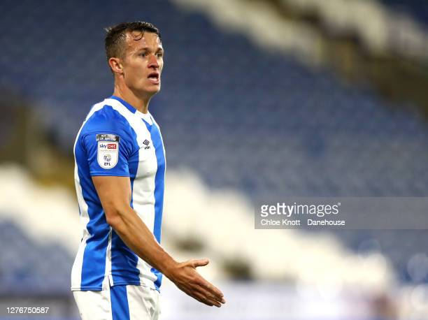 Jonathan Hogg of Huddersfield Town during the Sky Bet Championship match between Huddersfield Town and Nottingham Forest at John Smith's Stadium on...