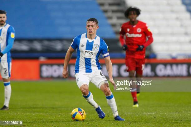 Jonathan Hogg of Huddersfield Town during the Sky Bet Championship match between Huddersfield Town and Reading at John Smith's Stadium on January 02,...
