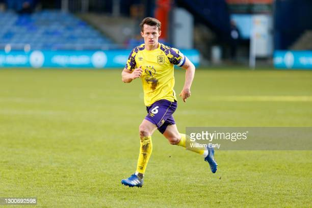 Jonathan Hogg of Huddersfield Town during the Sky Bet Championship match between Luton Town and Huddersfield Town at Kenilworth Road on February 06,...