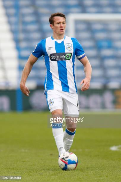 Jonathan Hogg of Huddersfield Town during the Sky Bet Championship match between Huddersfield Town and Wycombe Wanderers at John Smith's Stadium on...