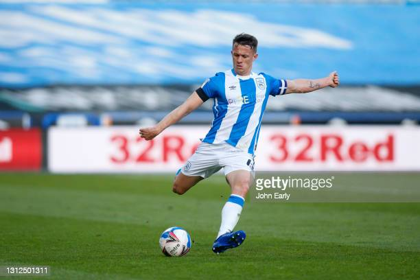 Jonathan Hogg of Huddersfield Town during the Sky Bet Championship match between Huddersfield Town and AFC Bournemouth at John Smith's Stadium on...
