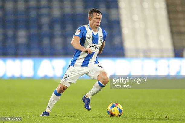 Jonathan Hogg of Huddersfield Town in possession during the Sky Bet Championship match between Huddersfield Town and Reading at John Smith's Stadium...