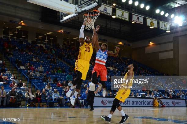 Jonathan Holmes of the Canton Charge shoots the ball during the NBA DLeague game against the Delaware 87ers on February 10 2017 at the Bob Carpenter...
