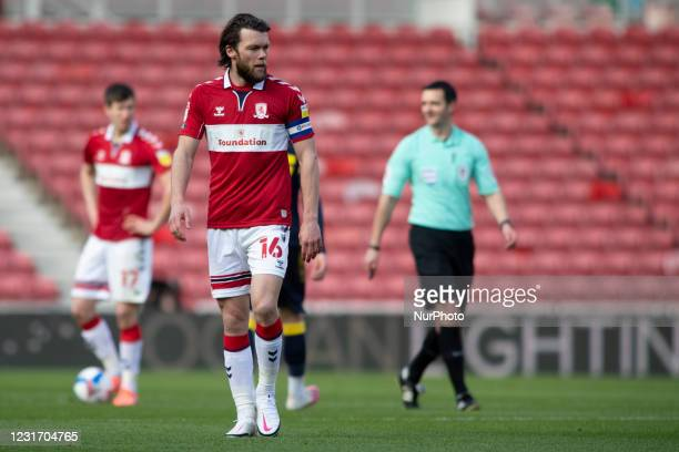Jonathan Howson during the Sky Bet Championship match between Middlesbrough and Stoke City at the Riverside Stadium, Middlesbrough on Saturday 13th...