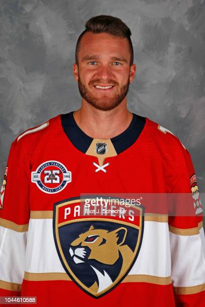Jonathan Huberdeau of the Florida Panthers poses for his official headshot for the 20182019 season on September 13 2018 at the BBT Center in Sunrise...