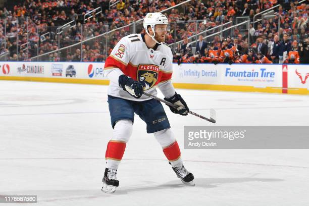 Jonathan Huberdeau of the Florida Panthers skates during the game against the Edmonton Oilers on October 27 at Rogers Place in Edmonton Alberta Canada
