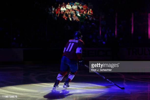 Jonathan Huberdeau of the Florida Panthers skates the ice for introductions prior to the start of the game against the Montreal Canadiens at the BB&T...