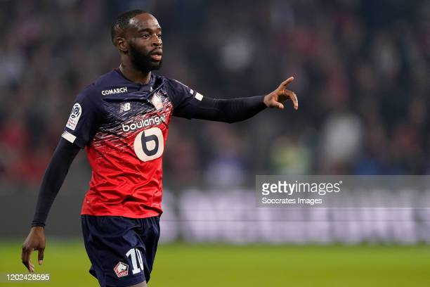 Jonathan Ikone of Lille during the French League 1 match between Lille v Olympique Marseille at the Stade Pierre Mauroy on February 16, 2020 in Lille...