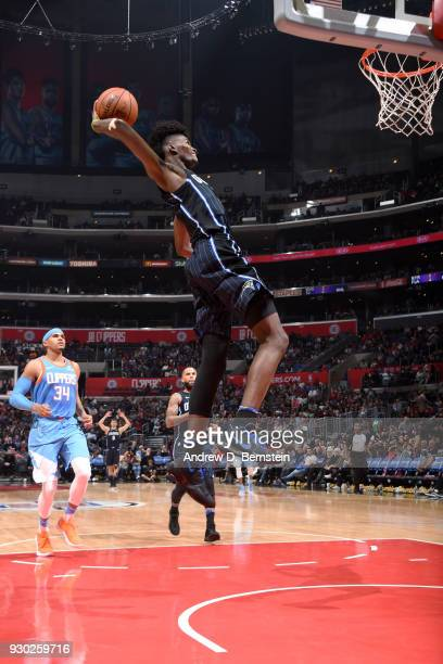 Jonathan Isaac of the Orlando Magic dunks the ball against the LA Clippers on March 10 2018 at STAPLES Center in Los Angeles California NOTE TO USER...