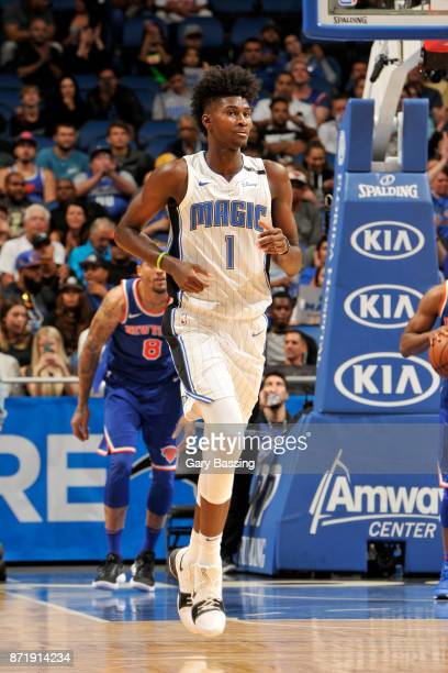 Jonathan Isaac of the Orlando Magic during the game against the New York Knicks on November 8 2017 at Amway Center in Orlando Florida NOTE TO USER...