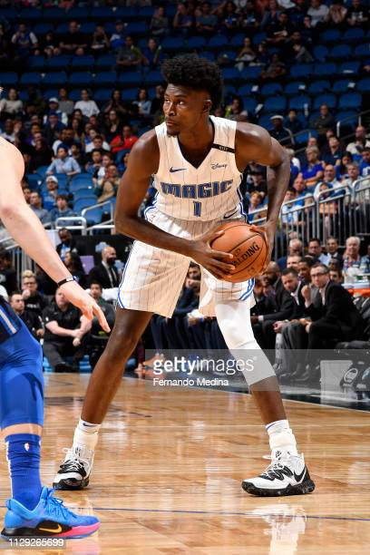 Jonathan Isaac of the Orlando Magic handles the ball against the Dallas Mavericks on March 8 2019 at Amway Center in Orlando Florida NOTE TO USER...