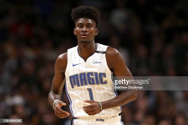 Jonathan Isaac of the Orlando Magic plays the Denver Nuggets at the Pepsi Center on November 23 2018 in Denver Colorado NOTE TO USER User expressly...