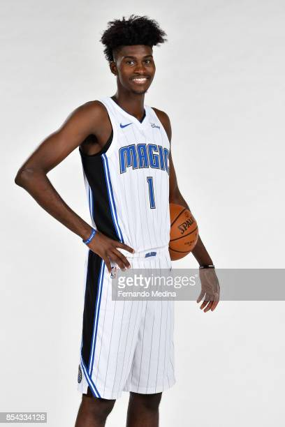 Jonathan Isaac of the Orlando Magic poses for a portrait during NBA Media Day on September 25 2017 at Amway Center in Orlando Florida NOTE TO USER...