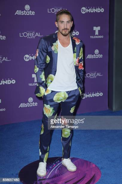 Jonathan Islas arrives at Telemundo's 2017 Premios Tu Mundo at American Airlines Arena on August 24 2017 in Miami Florida