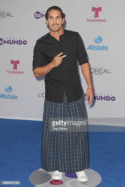 Jonathan Islas arrives at Telemundo's Premios Tu Mundo 'Your World' Awards at American Airlines Arena on August 25 2016 in Miami Florida