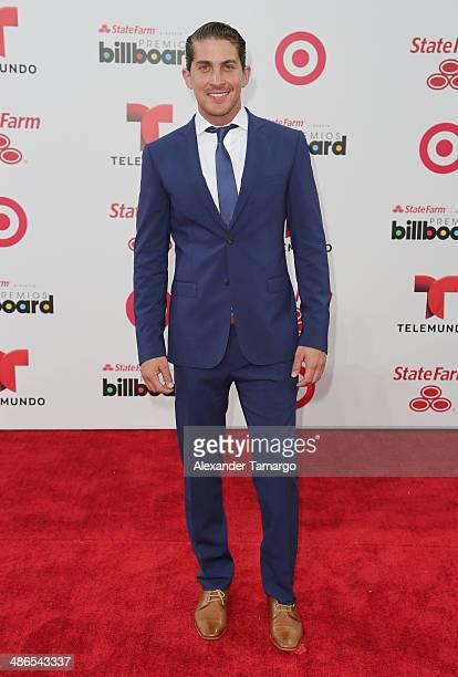 Jonathan Islas arrives at the 2014 Billboard Latin Music Awards at Bank United Center on April 24 2014 in Miami Florida
