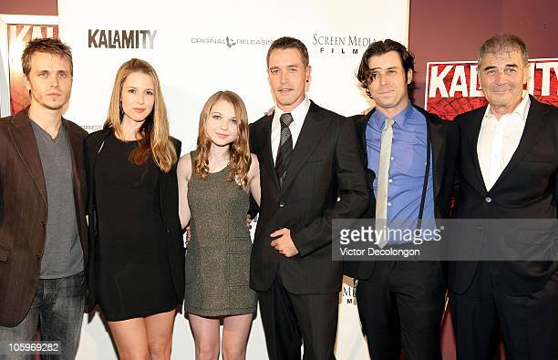 Jonathan Jackson Alona Tal Sammi Hanratty Christopher M Clark Tyler Parkinson and Robert Forster arrive for the premiere of 'Kalamity' at Laemmle...