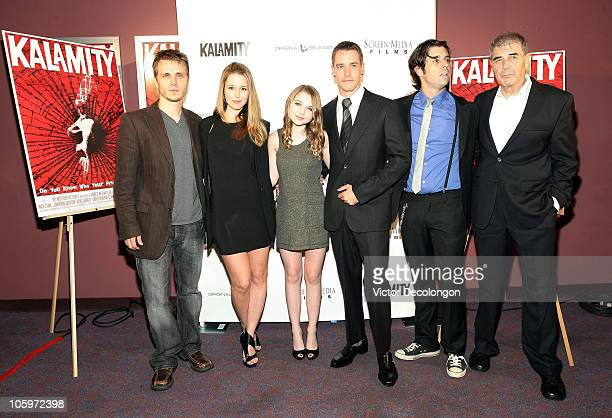 Jonathan Jackson Alona Tal Sammi Hanratty Christopher M Clark Tyler Parkinson and Robert Forster arrive for the premiere of 'Kalamity' on October 22...