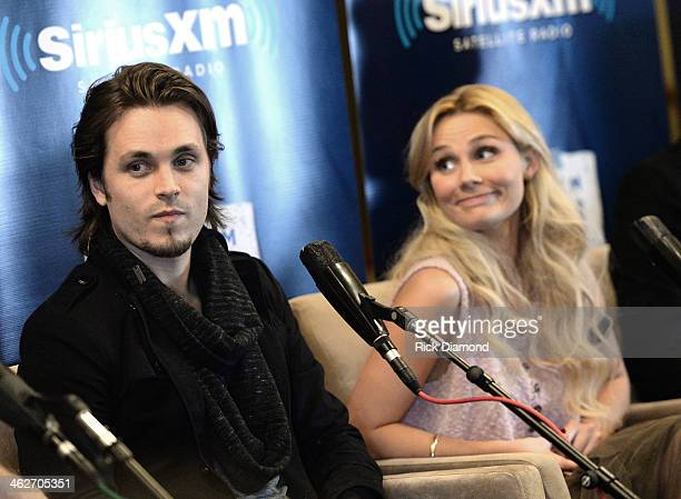Jonathan Jackson and Clare Bowen attend Cast Of ABC's Nashville Answer Questions From Fans During A SiriusXM Town Hall Special at Oceanways Studio on...