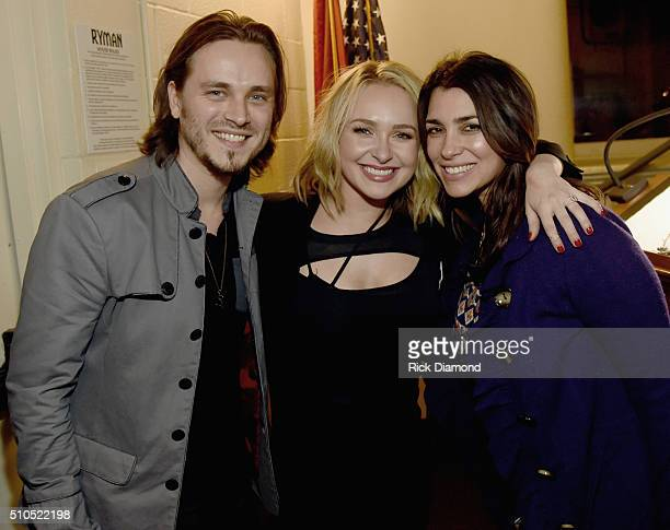Jonathan Jackson and Hayden Panettiere and Actress Lisa Vultaggio backstage during Nashville for Africa to benefit the African Chidlren's Choir at...