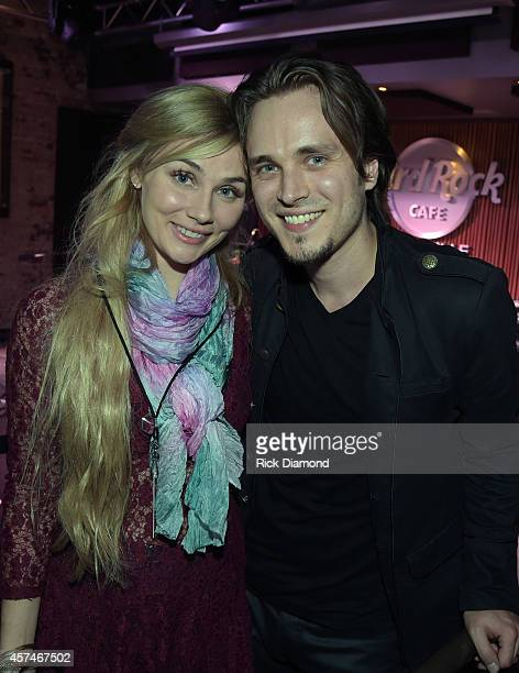 Jonathan Jackson Enation Album Release Party L/R ABC's Nashville cast members Clare Bowen and Singer/Songwriter Jonathan Jackson at the Hard Rock...
