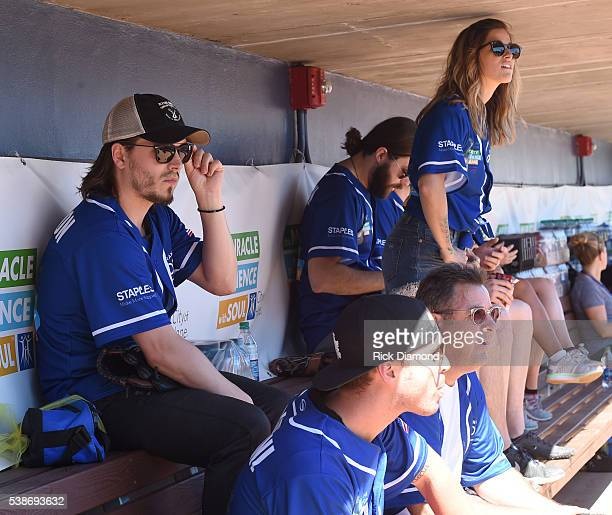 Jonathan Jackson Nick Fradiani Cassadee Pope and Vince Gill attend City of Hope's 26th Annual Celebrity Softball Game at First Tennessee Park on June...