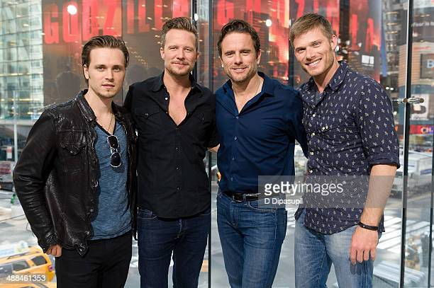 Jonathan Jackson Will Chase Charles Esten and Chris Carmack of 'Nashville' visit 'Extra' at their New York studios at HM in Times Square on May 6...