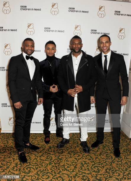 Jonathan 'JB' Gill Aston Merrygold Oritse Williams and Marvin Humes attend the BBC Children in Need Gala hosted by Gary Barlow at The Grosvenor House...